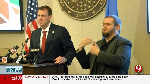 Governor Stitt Releases 3-Phase Plan To Reopen Oklahoma