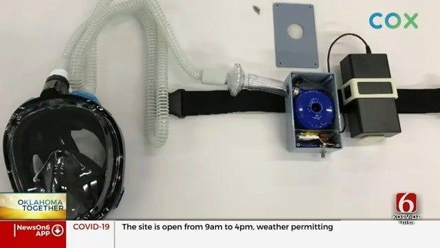 Tulsa Dentist Creates Face Mask Machine That Uses Purified Air