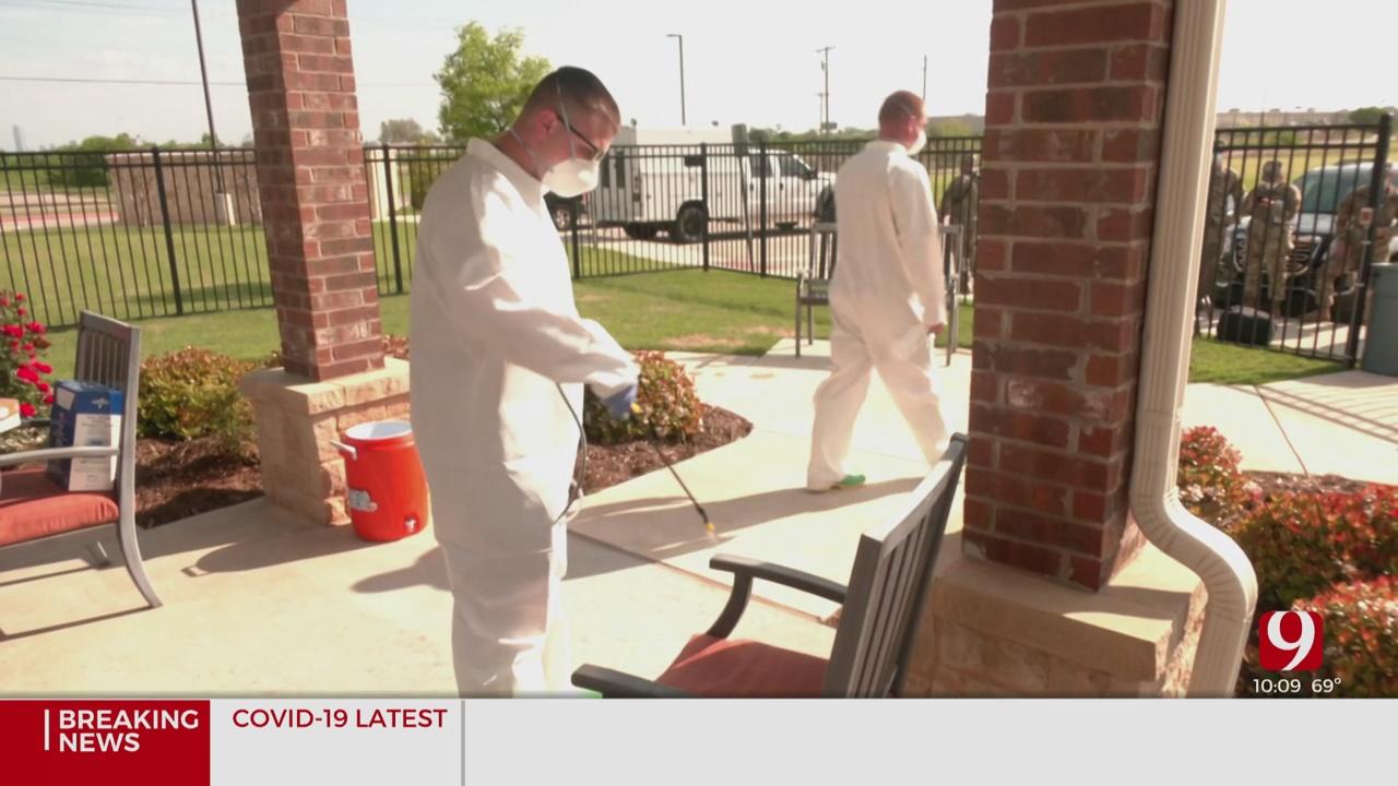 Oklahoma National Guard Members Begin Disinfecting Metro Nursing Homes