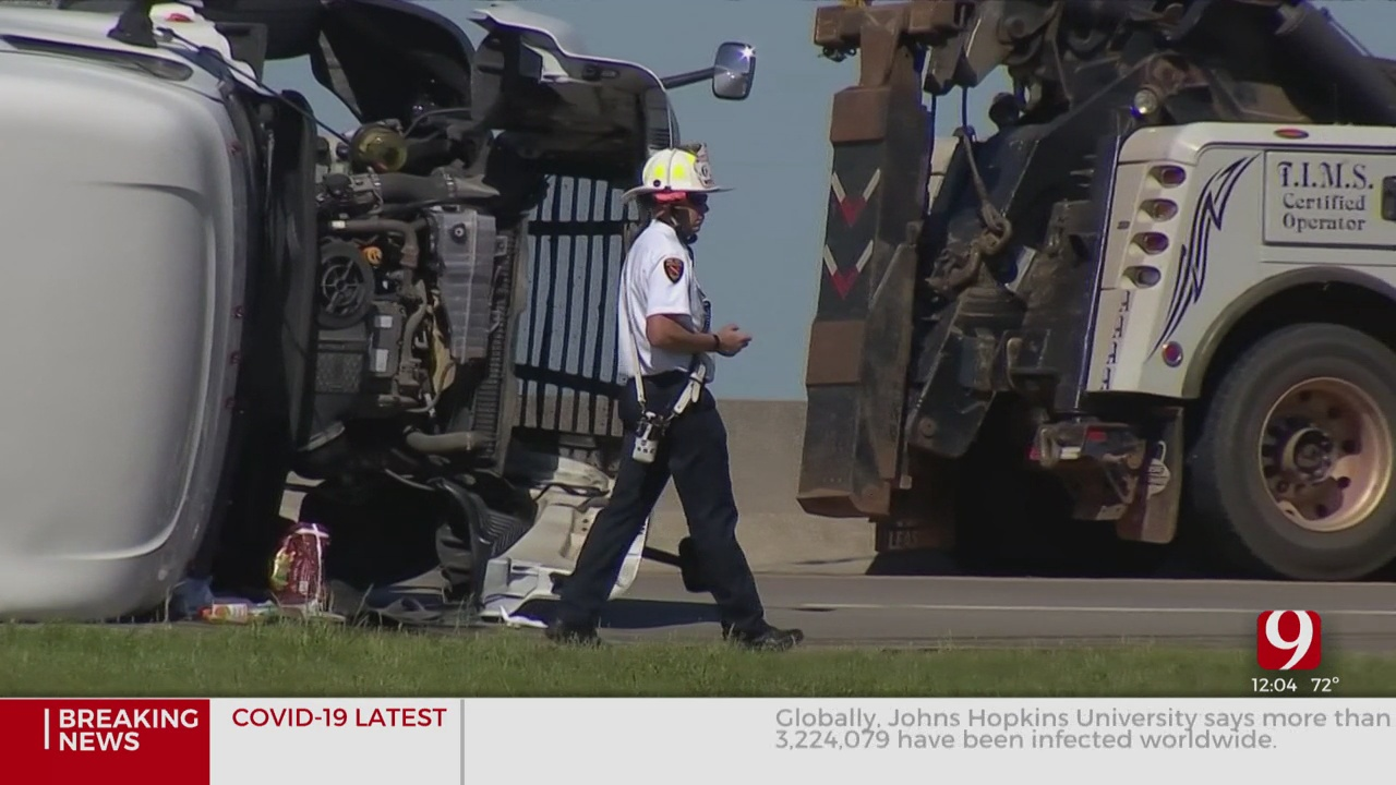 Traffic Diverted After I-44 Rollover Accident