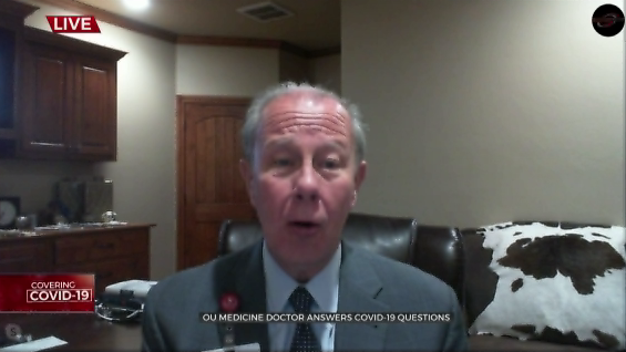 Watch: Dr. Bratzler On Trend Of COVID-19 Cases In The State