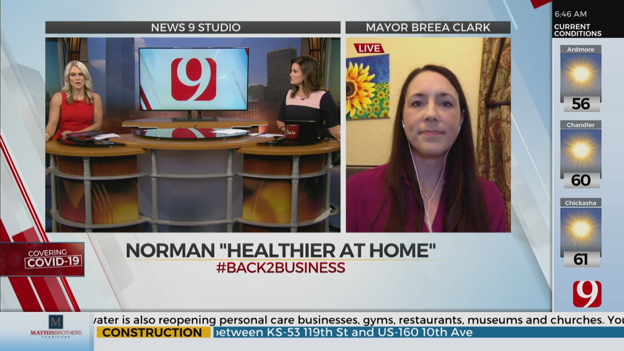 Watch: Norman Mayor Breaa Clark On City's 3-Phase Reopening Plan