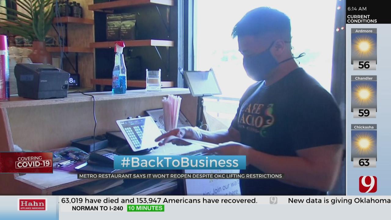 OKC Restaurant Says It Won't Reopen Despite OKC Lifting Restrictions