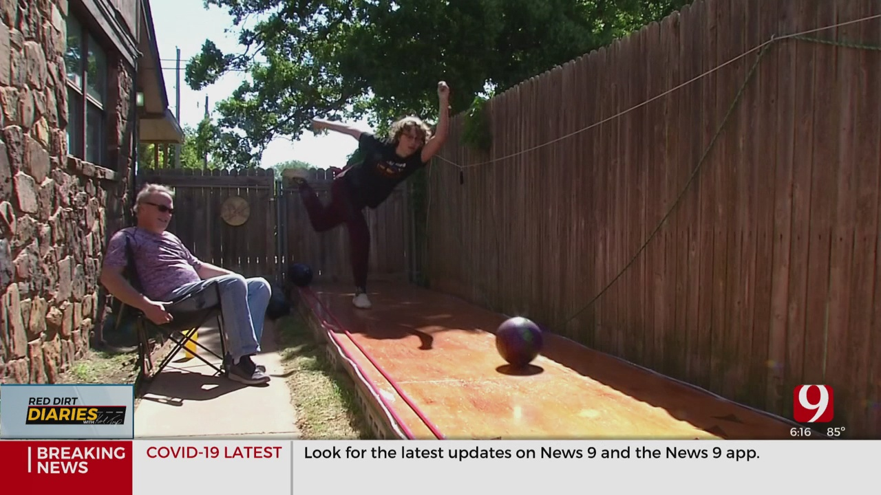 Edmond Dad Builds Bowling Lane In Backyard For His Son