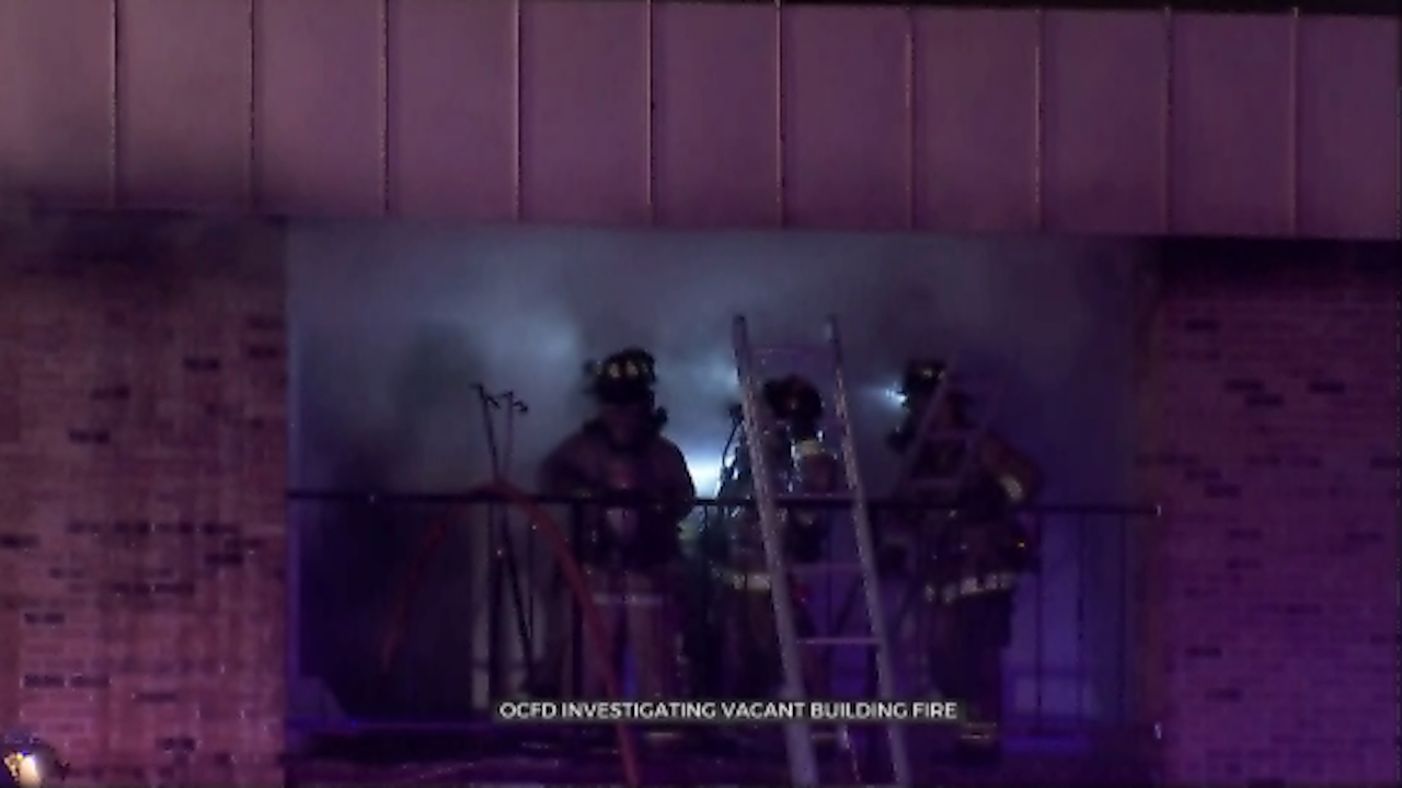OKC Firefighters Investigate Overnight Vacant Building Fire