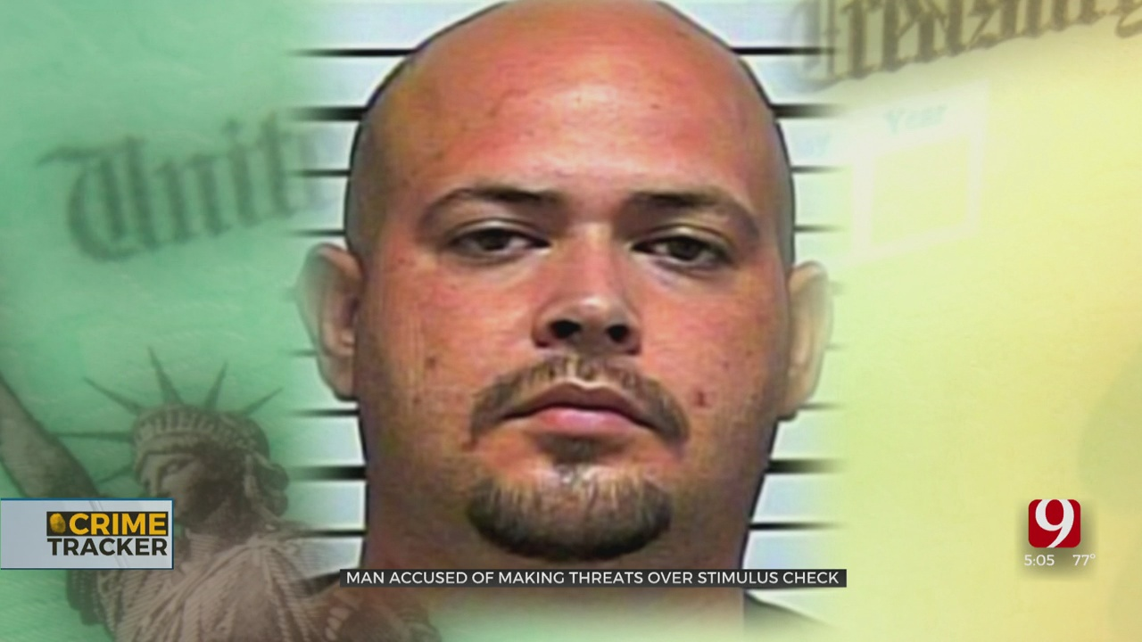 OKC Man Accused Of Threatening Woman, Slashing Her Tires For Her Stimulus Check