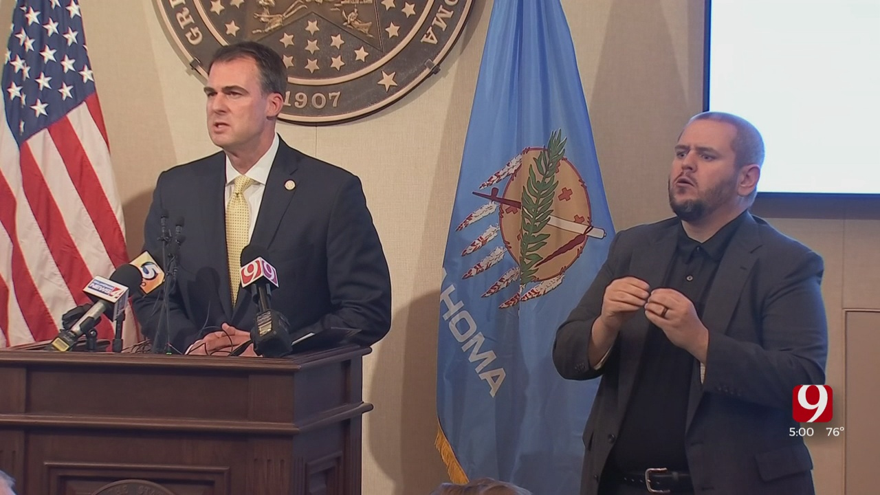 Gov. Stitt Addresses Next Phase Of Reopening The State, Unemployment