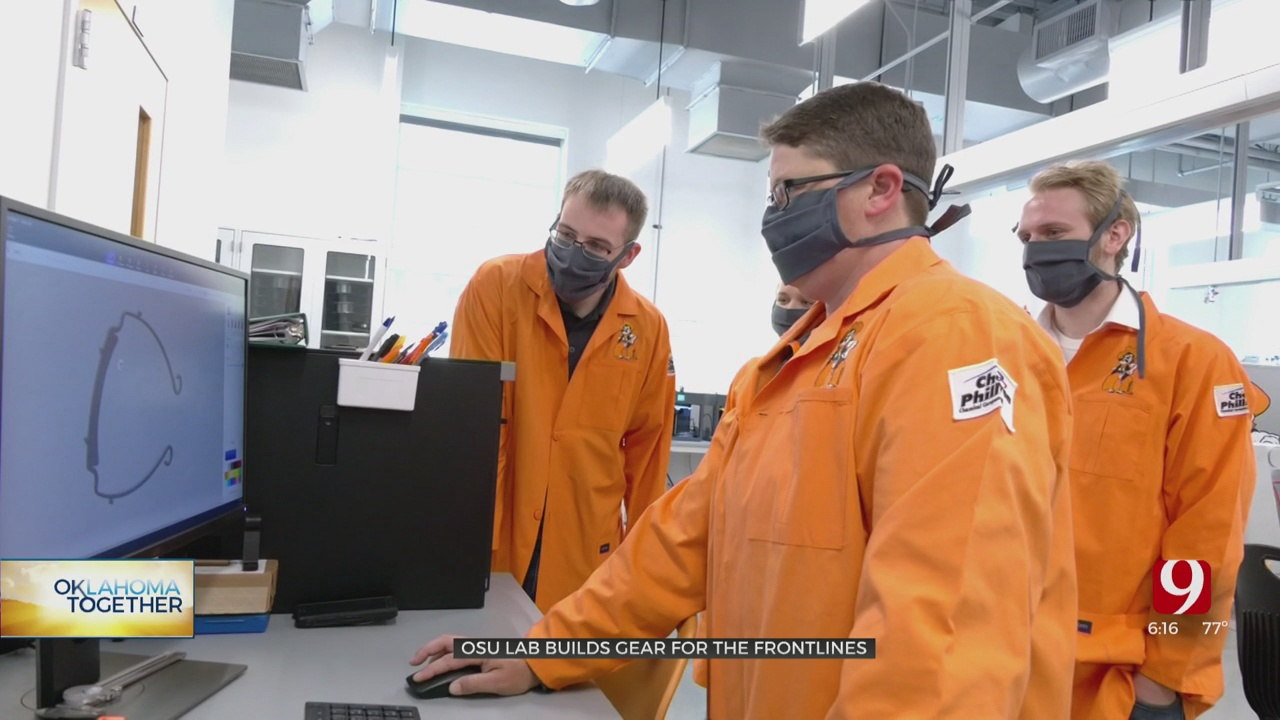 Oklahoma State University Students Putting In OT Producing PPE