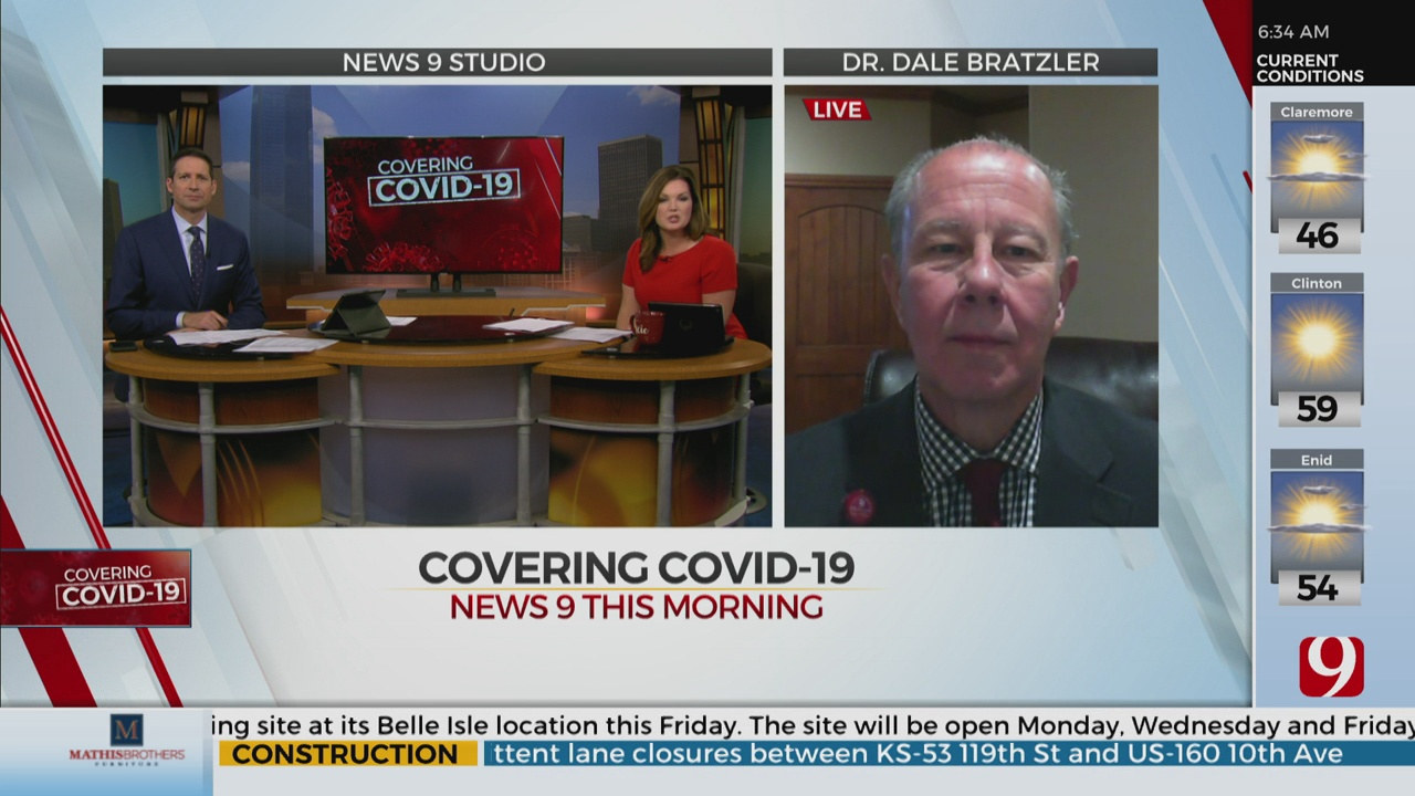 Watch: Dr. Bratzler On COVID-19 Candidate Vaccine Undergoing Clinical Trial