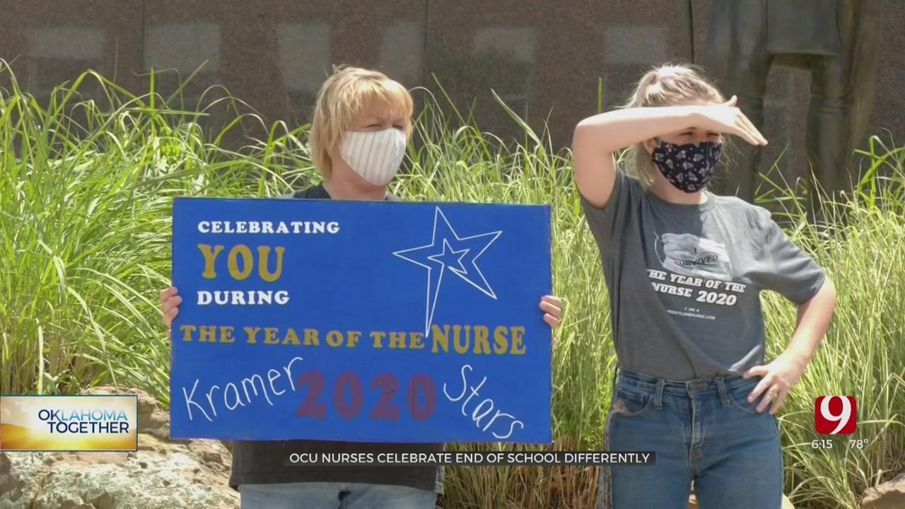 OCU Nursing School Graduates Have Drive-Thru Pinning Ceremony