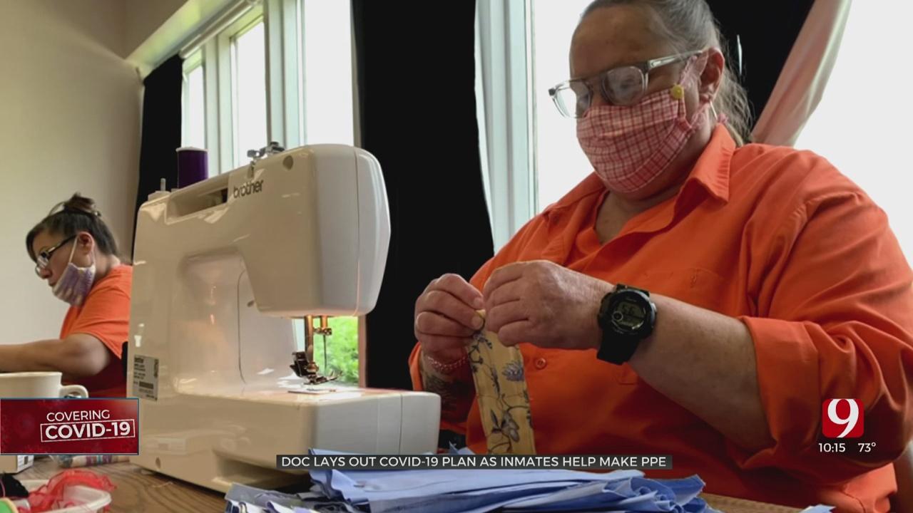 Oklahoma Inmates Make Masks To Combat Coronavirus (COVID-19)