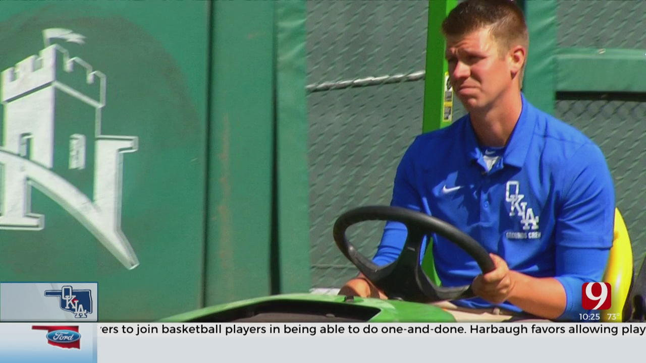 OKC Dodgers Groundskeeper On Top Of His Game During Pandemic