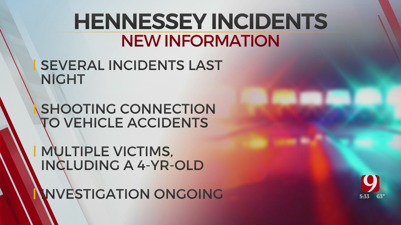 Police Investigating Several Incidents North Of Hennessey On Saturday Night