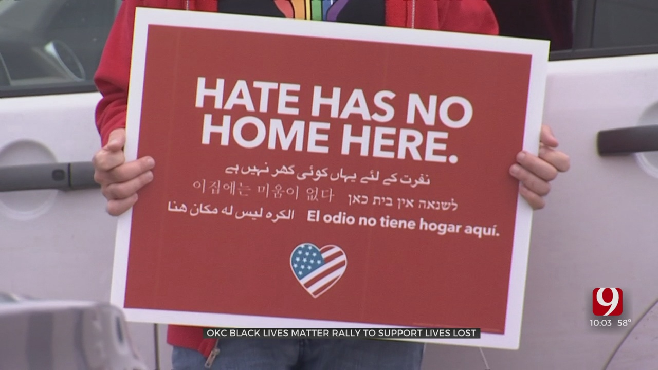 Black Lives Matter OKC Rally In Response To Recent Shootings