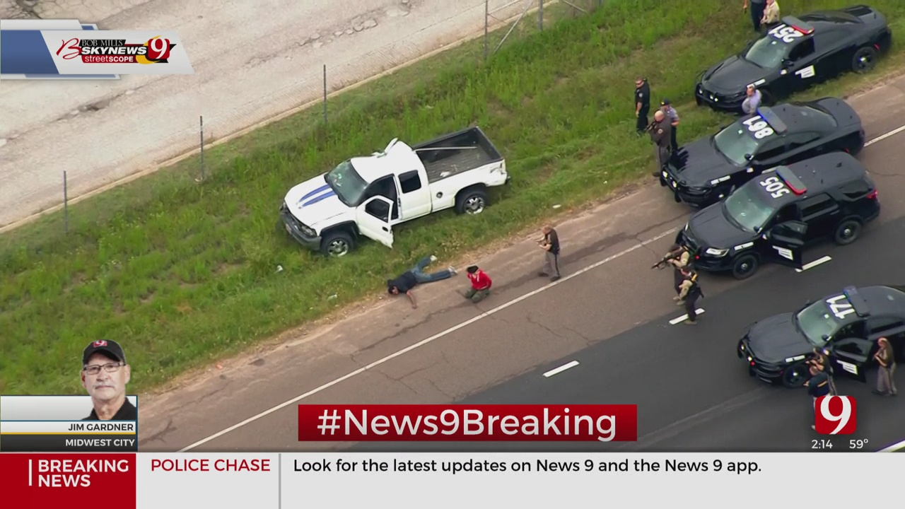 2 Detained After Police Chase Near Midwest City