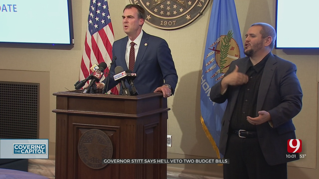 Budget Negotiations Stalled, Stitt To Veto 2 Budget Measures