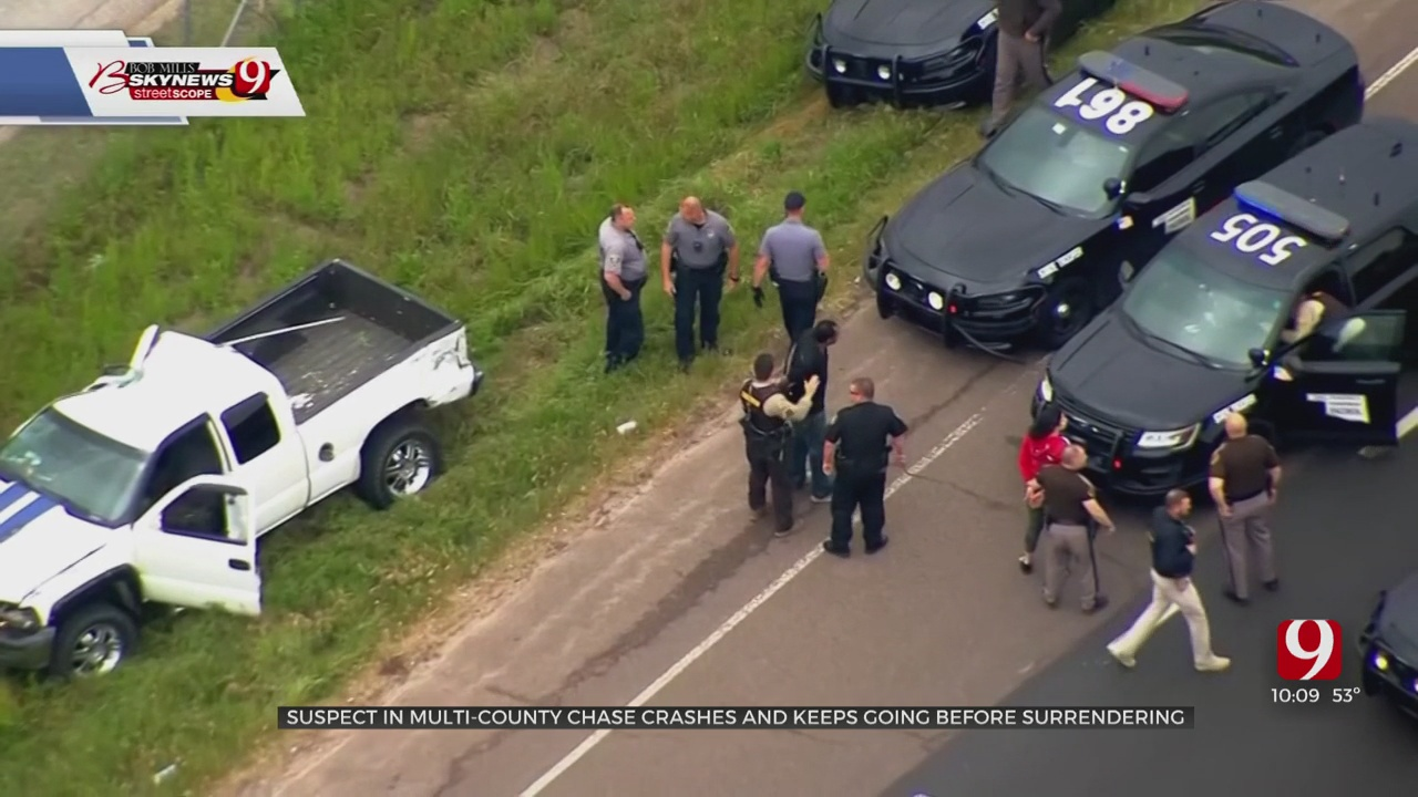 Suspect Vehicle Rolls Over, Continues On Before I-35 Pursuit Ends With 2 In Custody