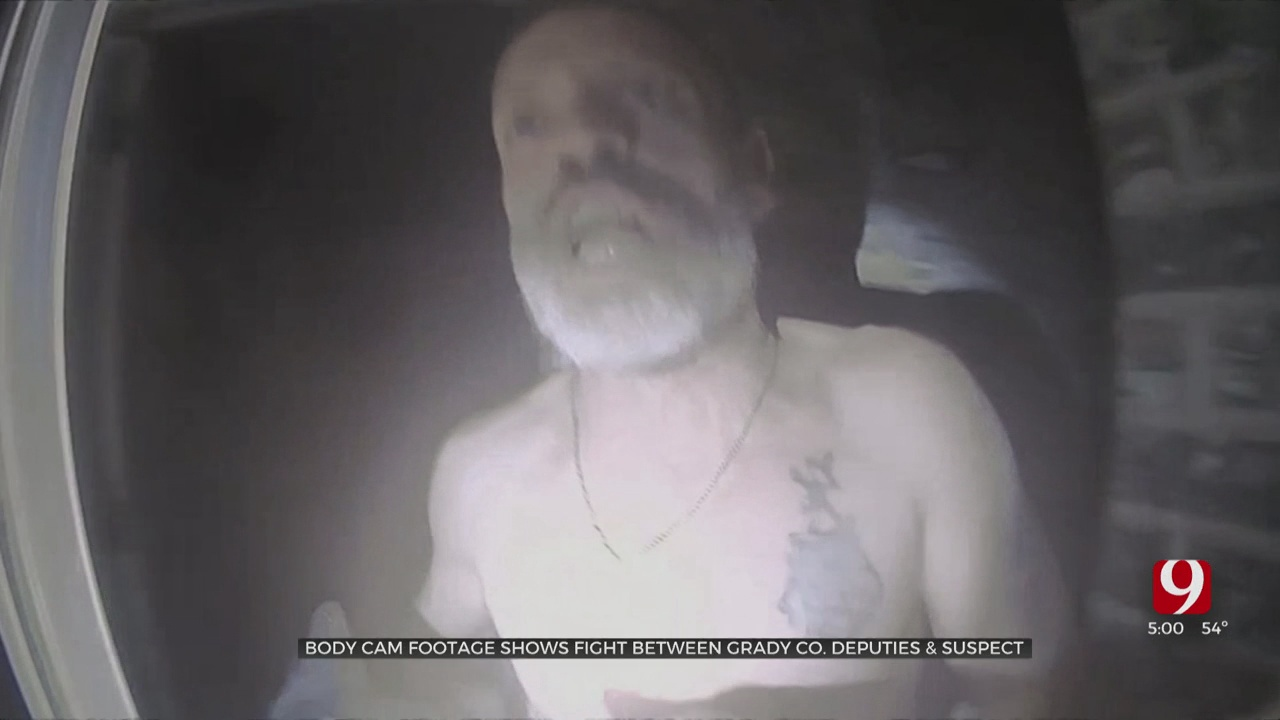 Bodycam Footage Shows Fight Between Grady Co. Deputies, Naked Man