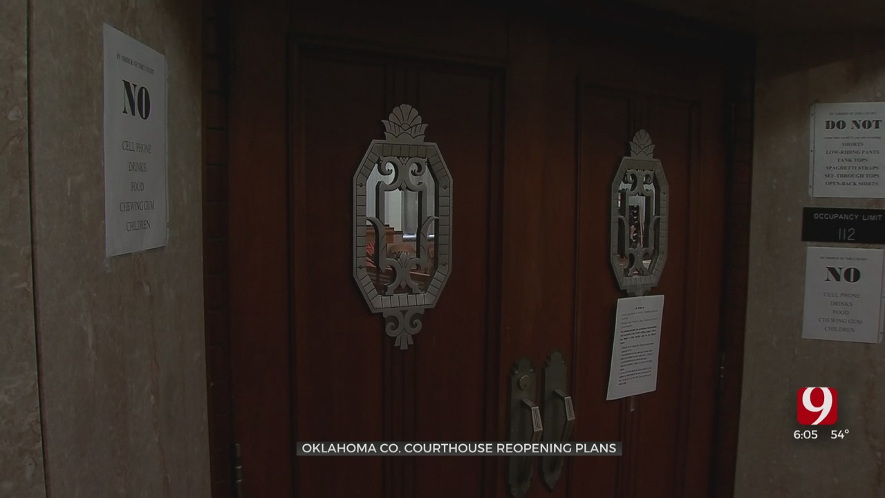 Oklahoma County Officials Prepare For Reopening Of Courthouse, Court Clerk's Office Next Week
