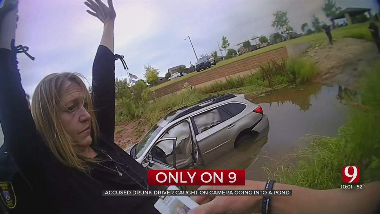 Woman Arrested After Allegedly Driving Drunk, Crashing Car Into Pond At Moore Park