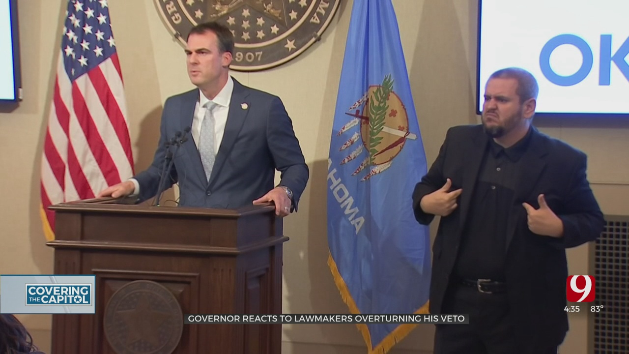 Gov. Stitt Reacts To Lawmakers Overturning His Budget Veto