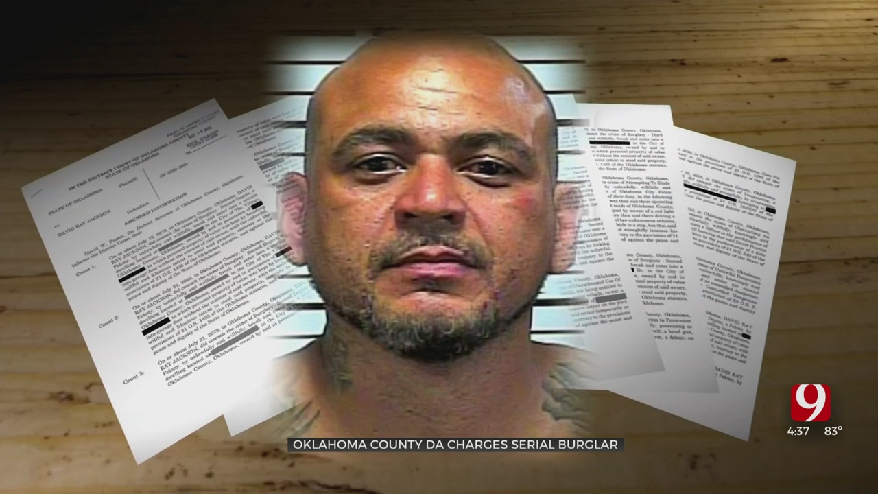 Man Faces 32 Burglary Charges In Oklahoma County