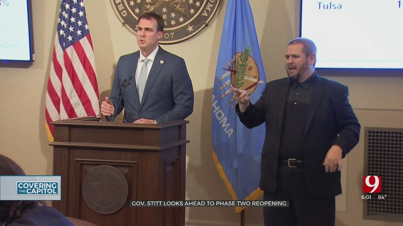 Gov. Stitt Says Oklahoma In 'Great Shape' For Phase 2 Of Reopening