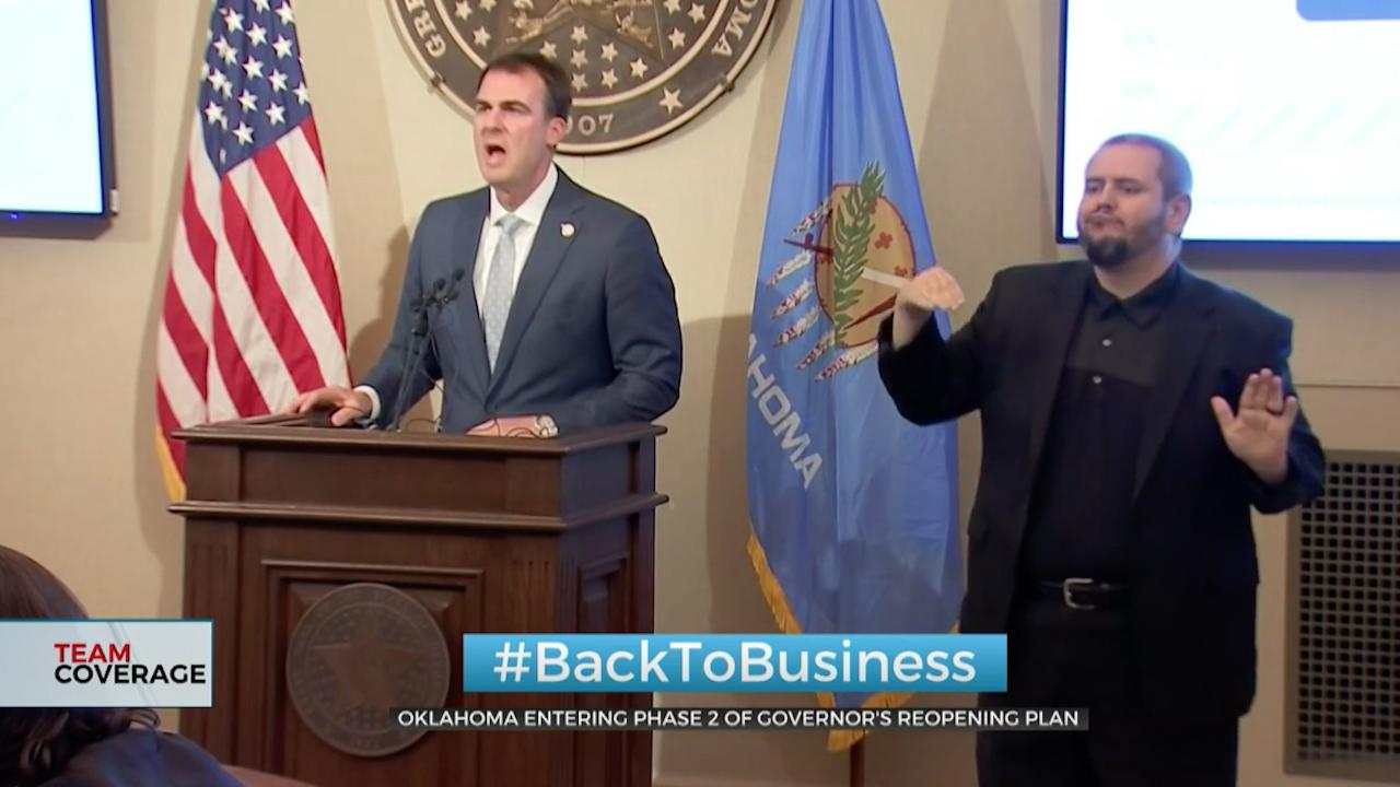 Oklahoma Entering Phase 2 Of Gov. Stitt's Reopening Plan