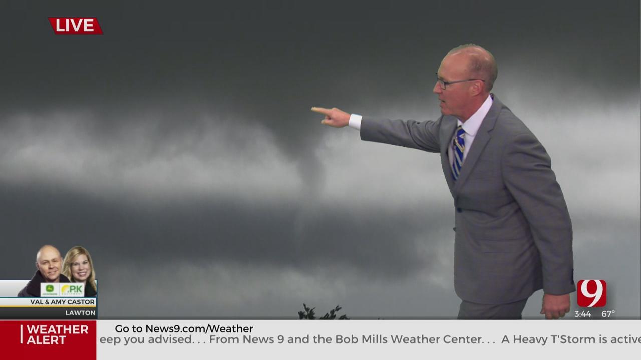 WATCH: Severe Storms Produce Funnel In SW Okla.