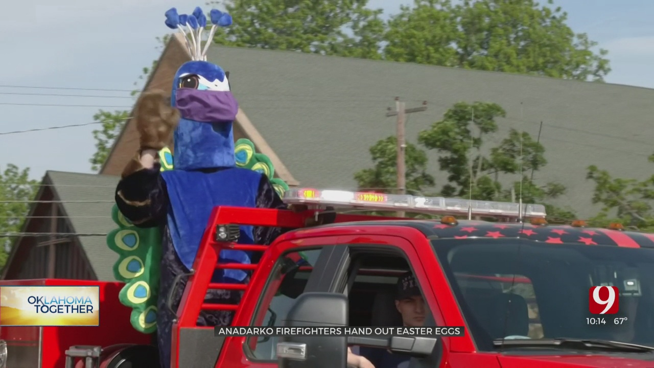 Anadarko Police, Fire Distribute Easter Eggs After Holiday Festivals Canceled