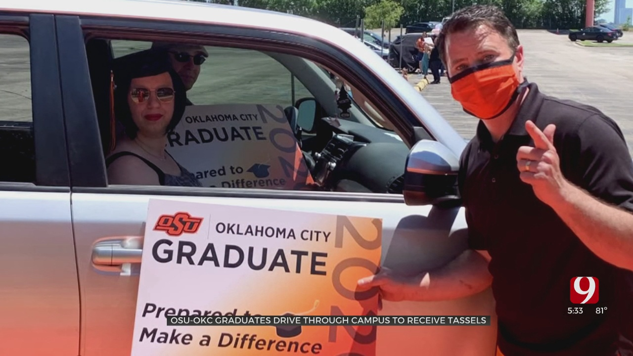 OSU-OKC Students Celebrate Graduation With Drive-Thru Event
