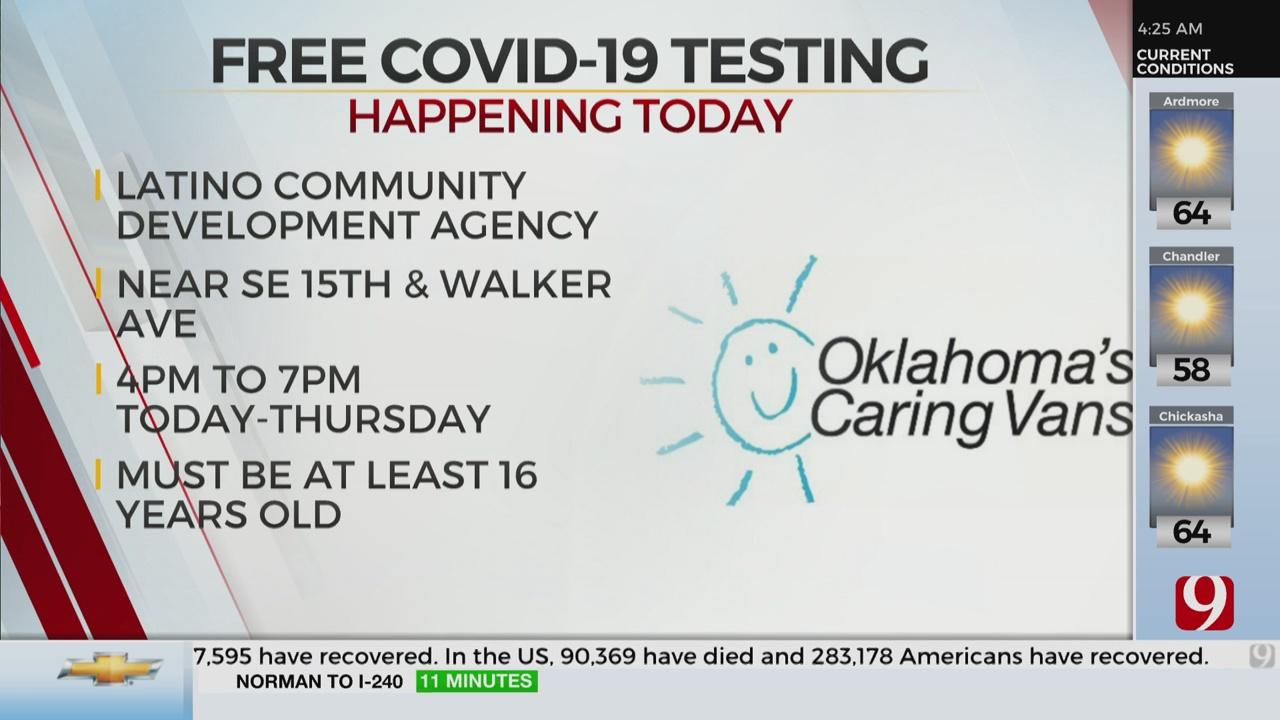 Okla. Caring Van Providing Free COVID-19 Testing At Lationo Community Development Agency