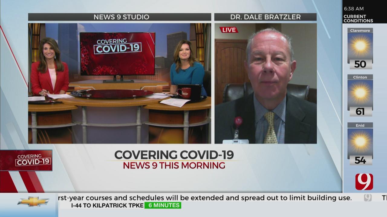 Watch: Dr. Bratzler On How Okla. Is Doing With Antibody Testing, New COVID-19 Symptoms
