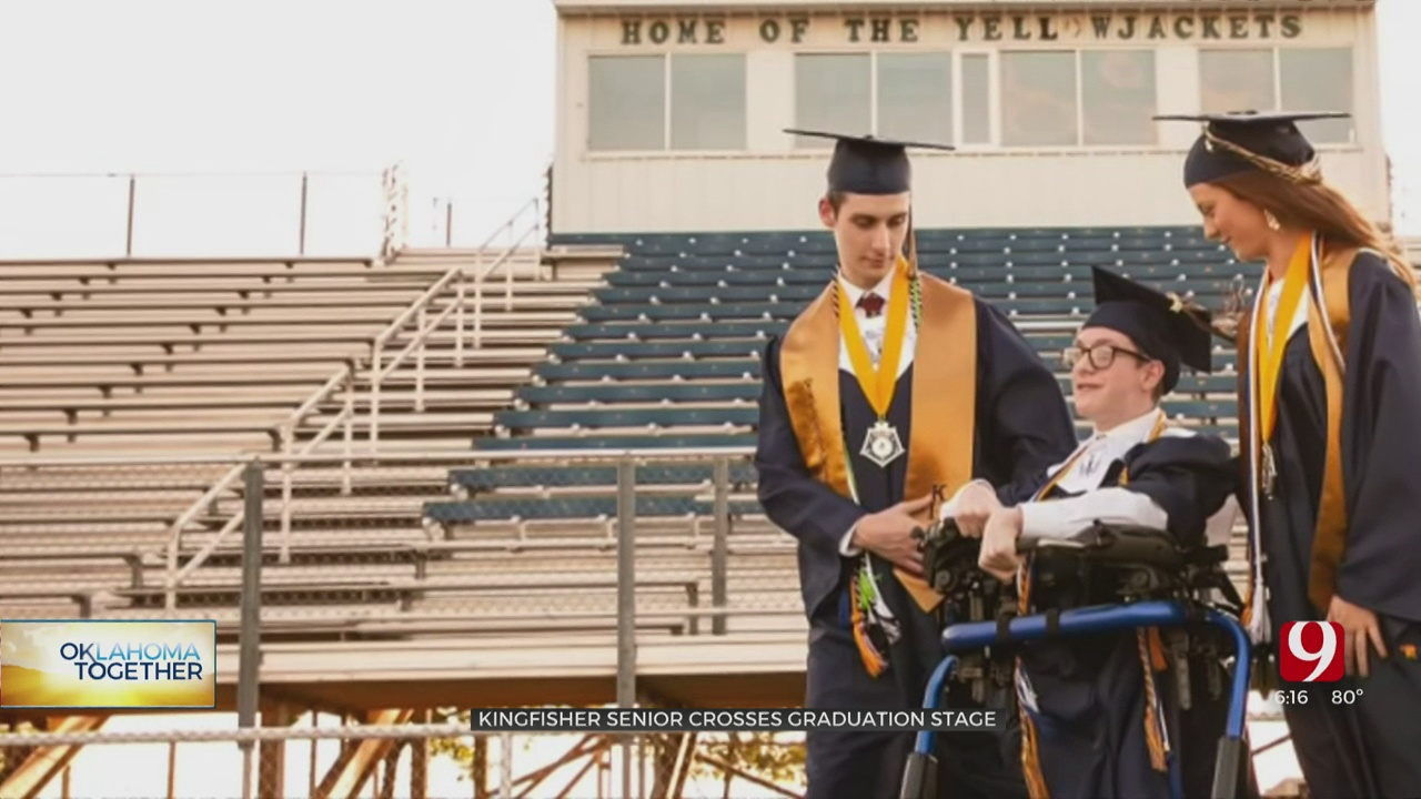 Kingfisher Senior Leaves Wheelchair Behind To Walk Across Graduation Stage