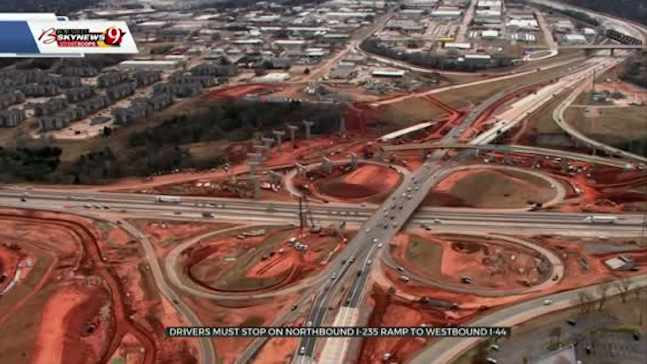 Drivers To See Traffic Changes At  I-235, I-44 As Next Phase Of Construction Begins