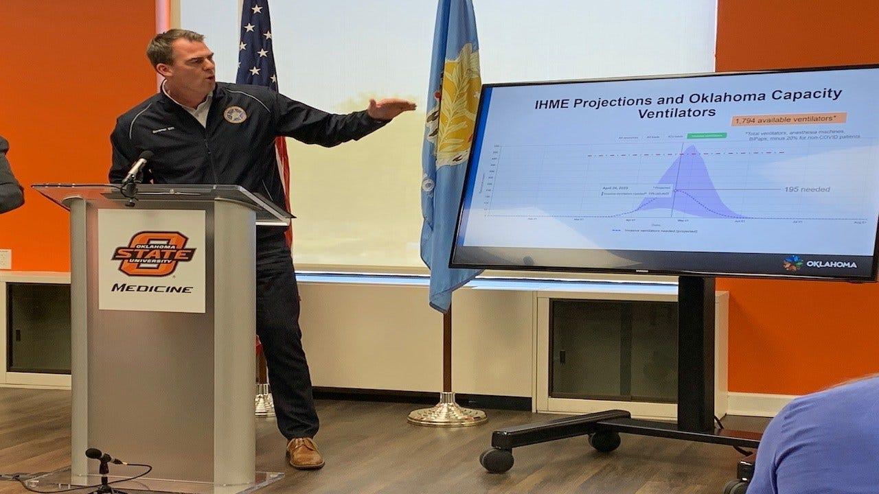 WATCH: Gov. Stitt Says Oklahoma Ready, 'Flattening The Curve'