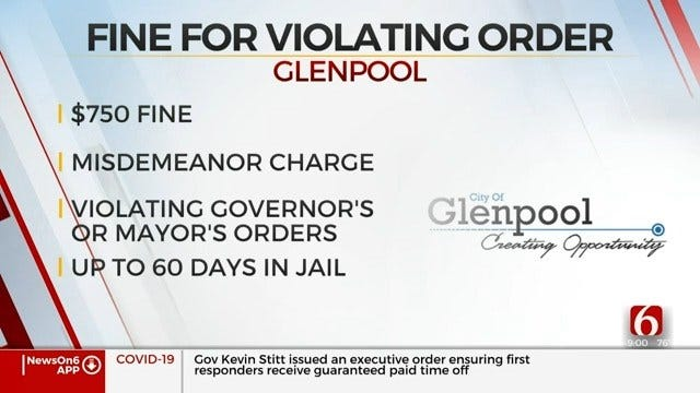 Glenpool Makes It A Misdemeanor Offense To Violate Governor's Safer-At-Home Order