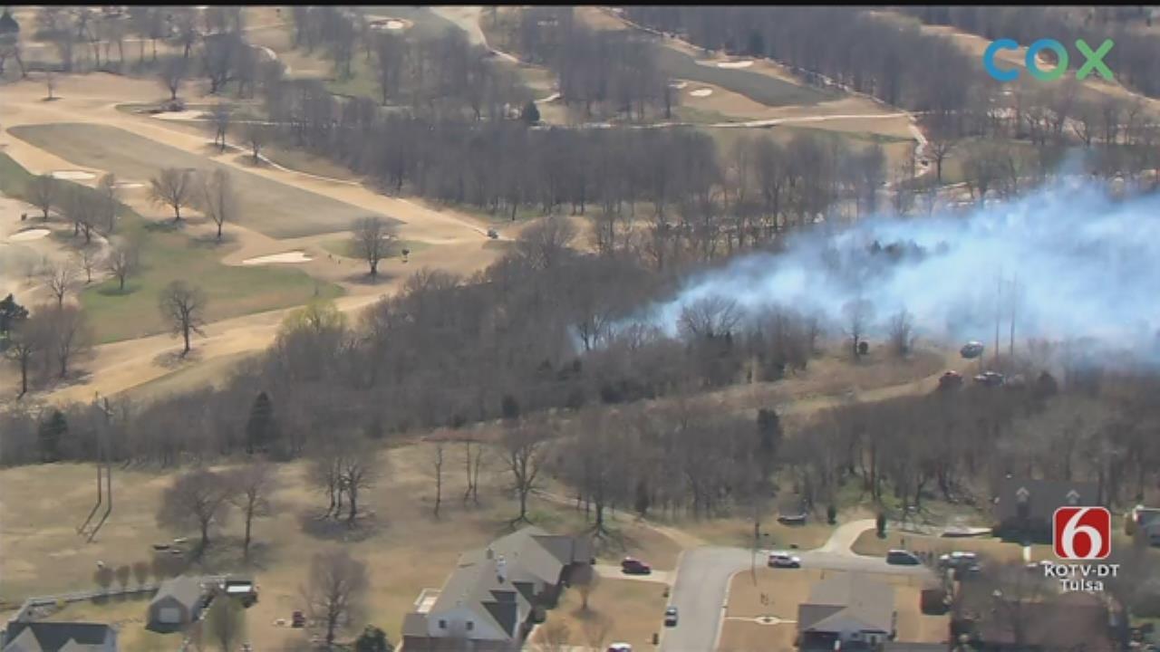 WATCH: Osage SkyNews 6 HD Flies Over Grass Catoosa Fire