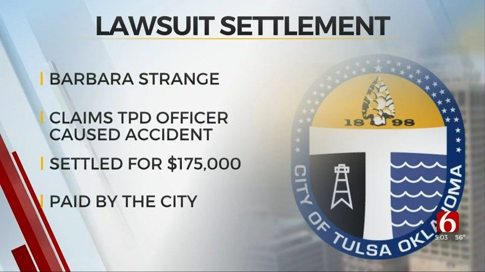 Woman Gets $175,000 From City Over TPD Injury Crash Lawsuit