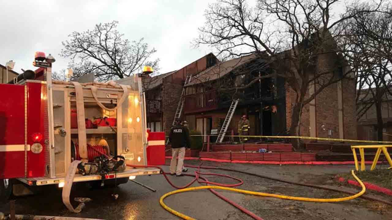 Firefighters Respond To Deadly Mannford Condo Fire