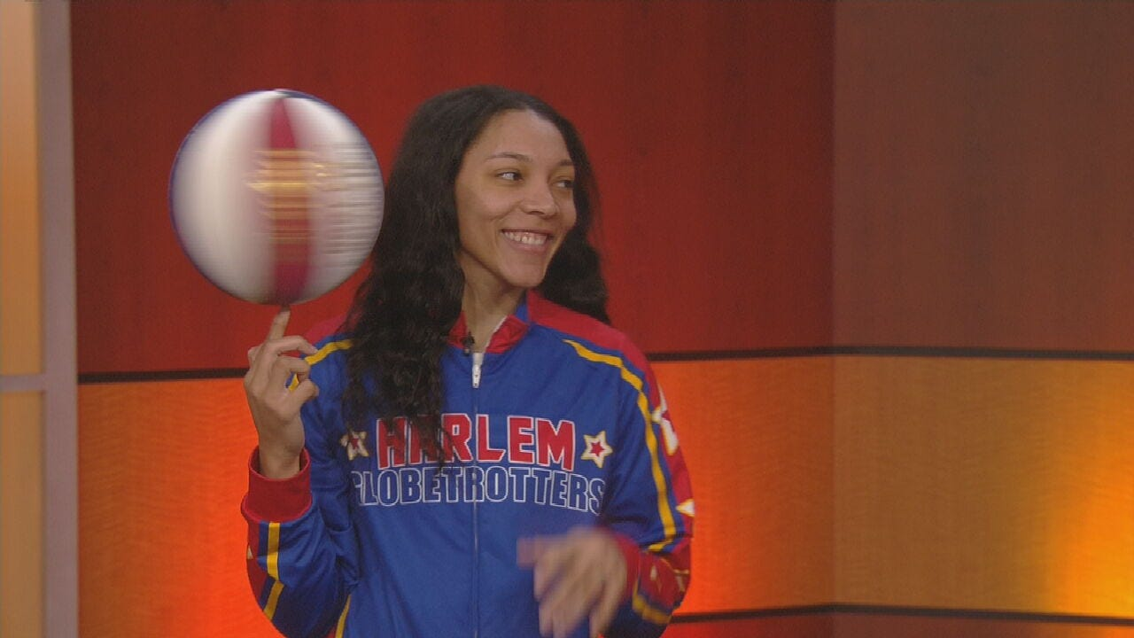 WATCH: Harlem Globetrotters' Swish Sutton Stops By News On 6