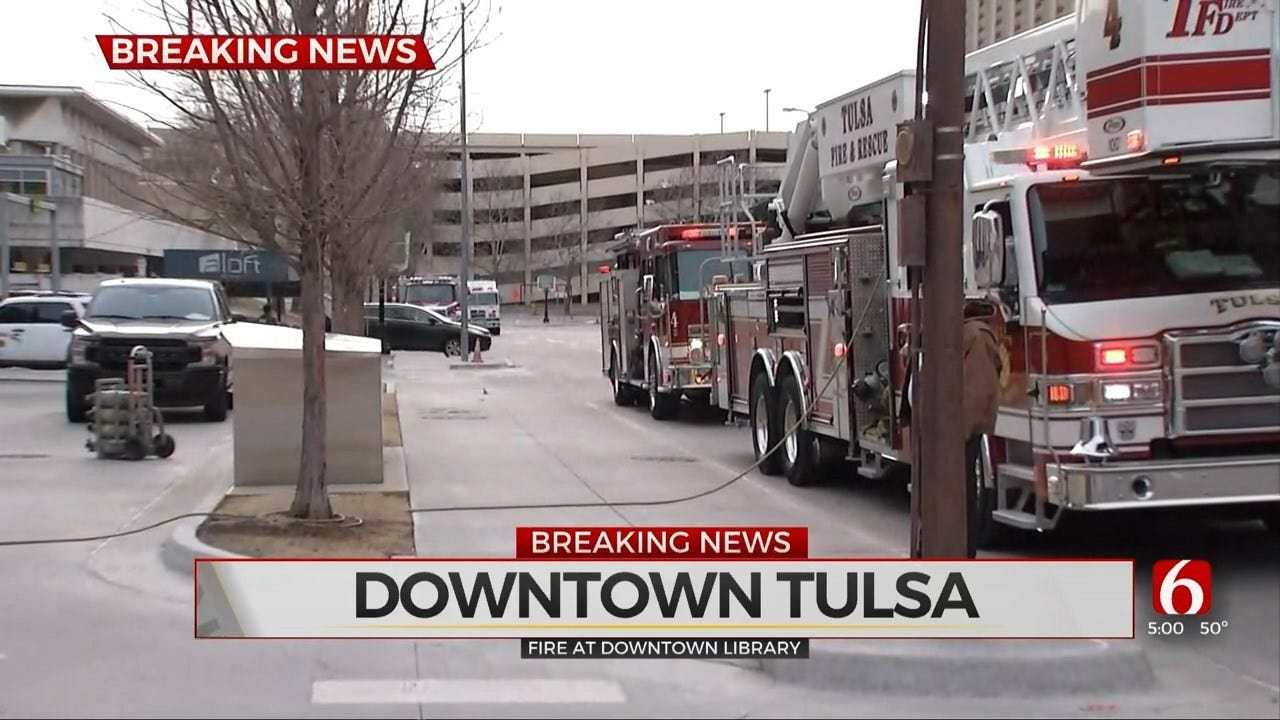 Emergency Crews Respond To Tulsa County Library Fire