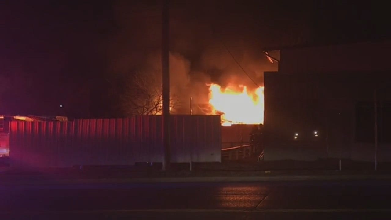 WATCH: Fire Consumes Building Near Admiral And Yale