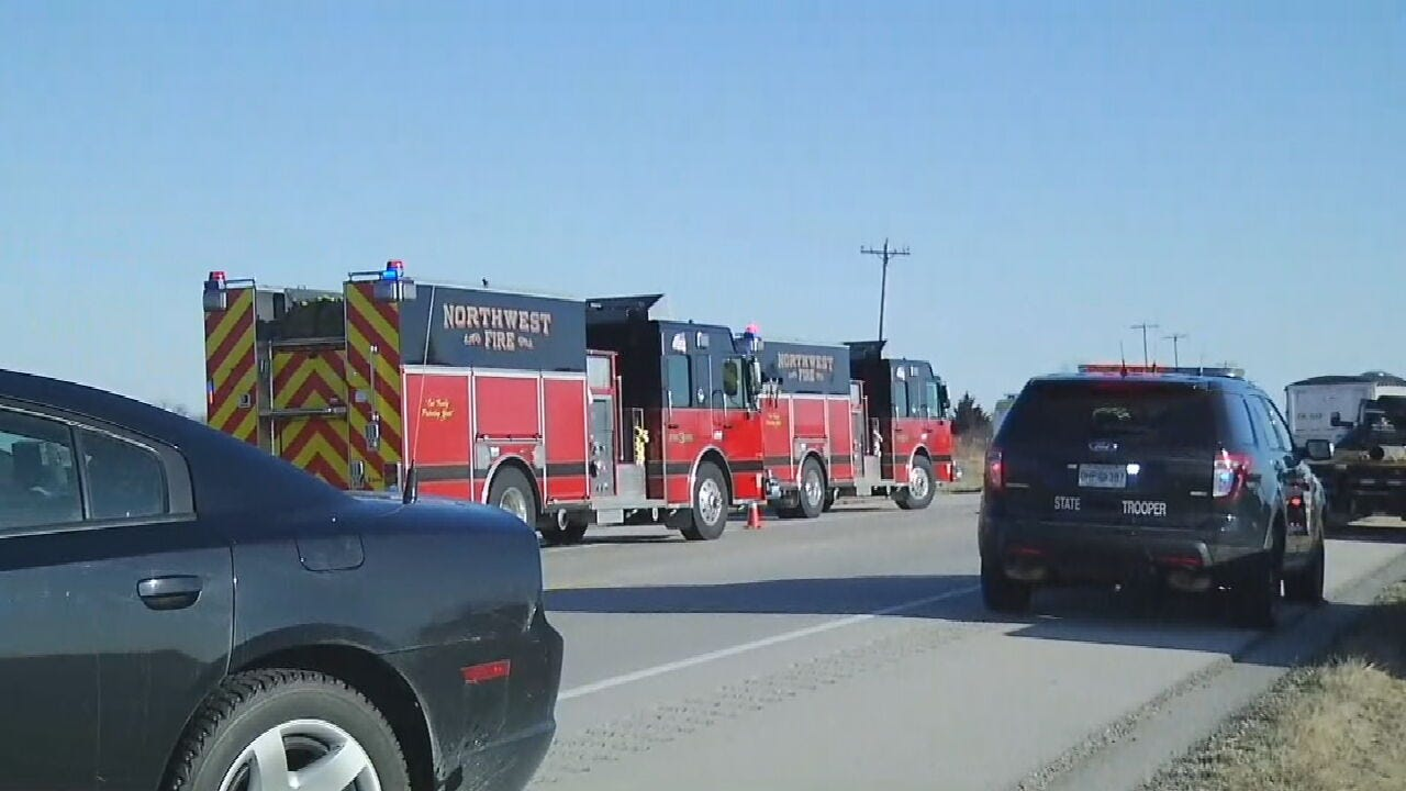 OHP: 1 Dead After Crashing Head-On Into Semi On Hwy 169