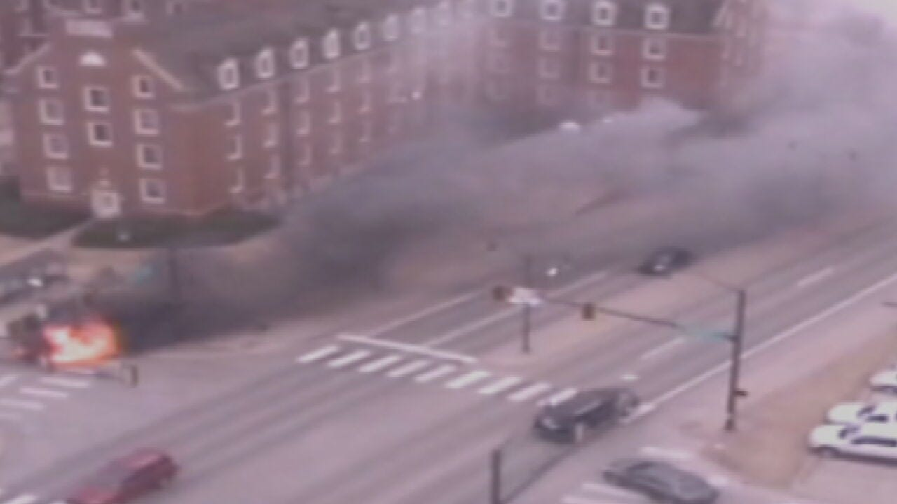 OSU Employee Rescues Driver From Burning Truck
