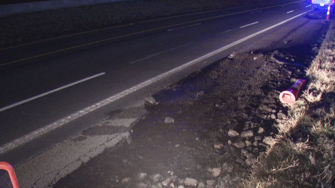 Large Potholes On I-44 In Tulsa Causing Trouble For Drivers