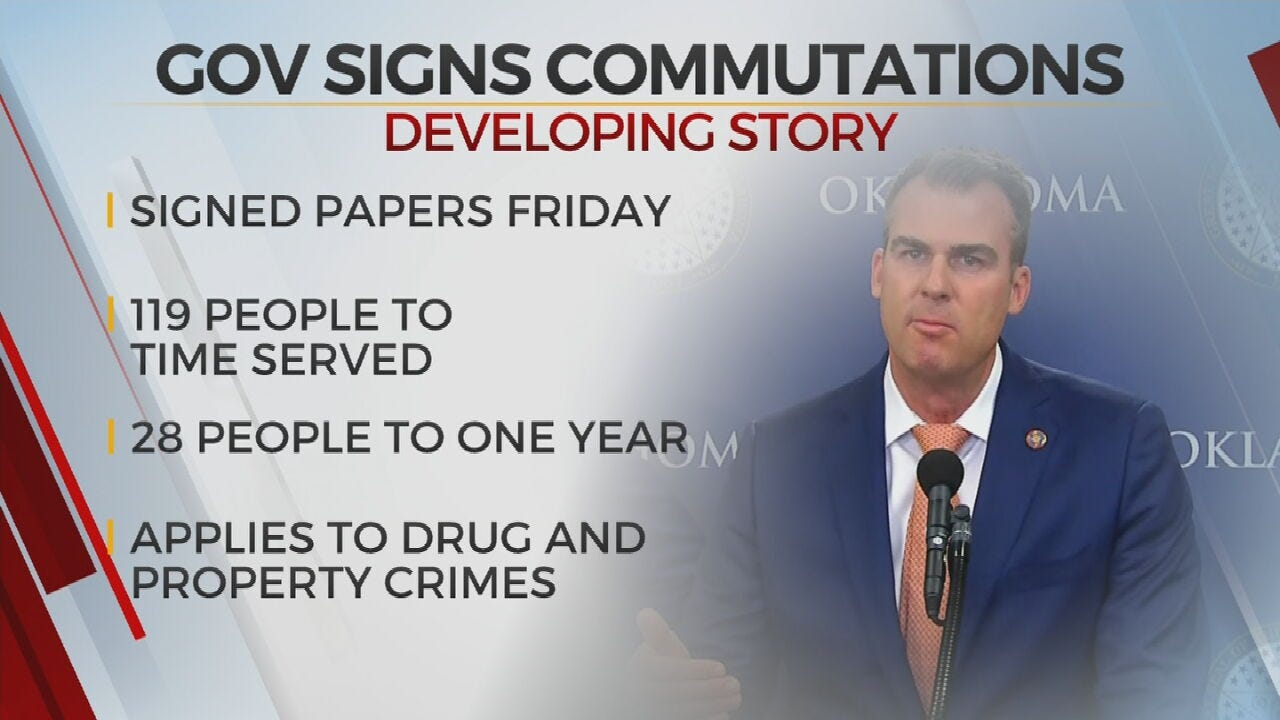 Governor Stitt Signs Commutations