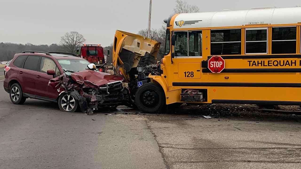 No Children Harmed After Sleepy Driver Slams Into School Bus