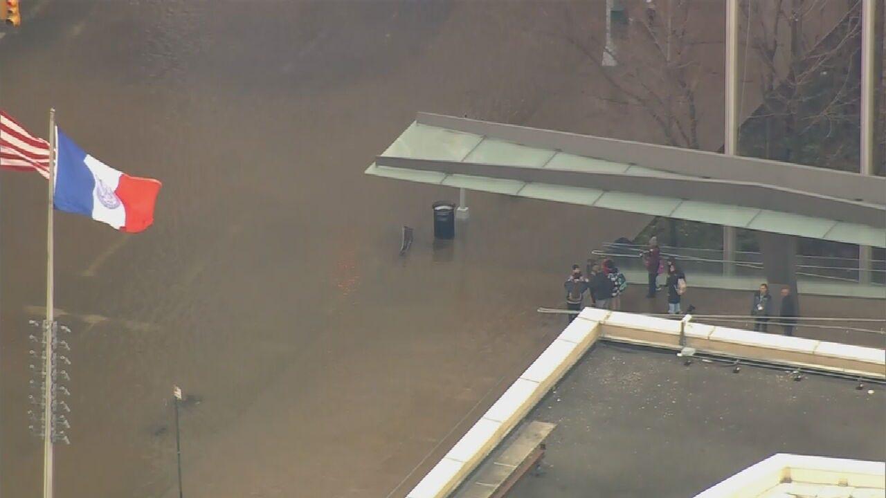 WATCH: Huge Water Main Break Impacts Manhattan Rush Hour