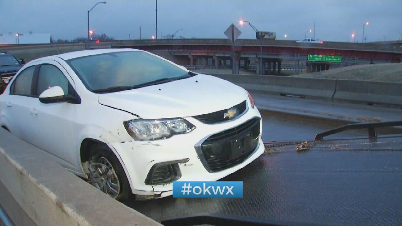 Freezing Drizzle Causing Crashes Across Tulsa County
